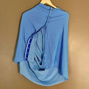 Lululemon Vinyasa wrap scarf blue striped